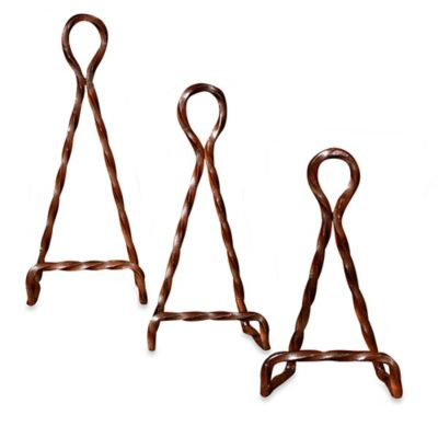 San Miguel 6.25-Inch Braided Metal Easel in Rustic