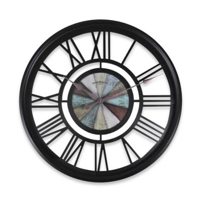 FirsTime® Oversized Rustic Roman Wall Clock in Oil-Rubbed Bronze