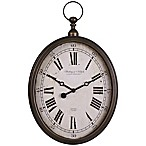Sterling & Noble Pocket Watch Wall Clock in Antique Gold