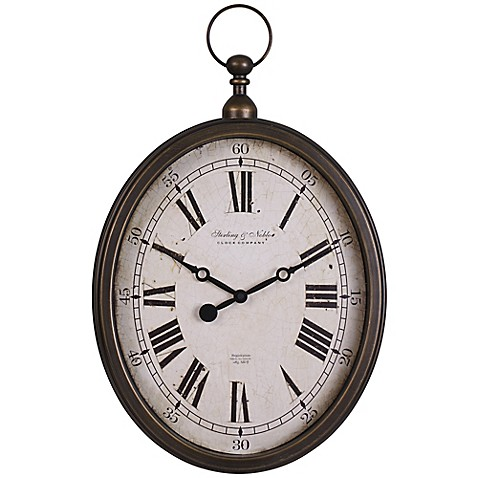Sterling Amp Noble Pocket Watch Wall Clock In Antique Gold