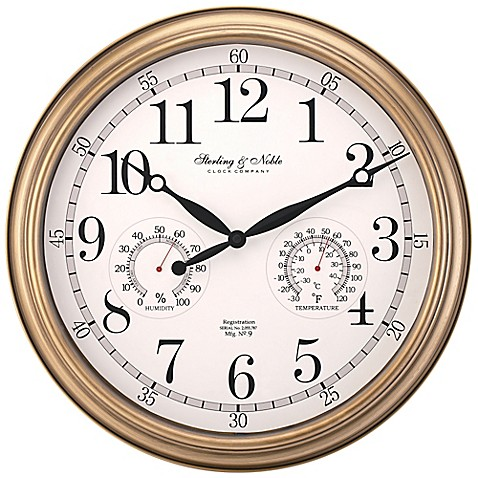 Sterling Amp Noble Indoor Outdoor Wall Clock In Brushed