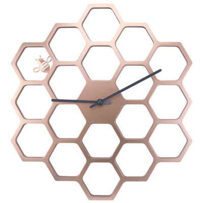 Sterling & Noble Golen Honeycomb Wall Clock in Gold