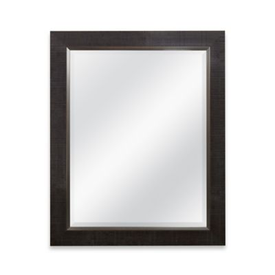 Dark Brown Rectangular Mirror