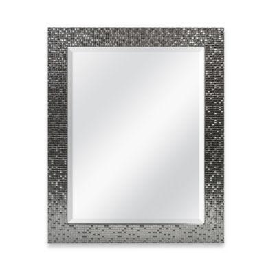 Medium Basic 26.5-Inch x 32.5-Inch Rectangular Mirror in Silver Tile