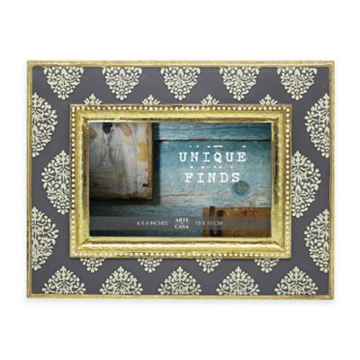 Argento Unique Finds 4-Inch x 6-Inch Provence Picture Frame in Grey