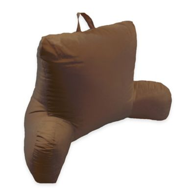 Microfiber Backrest Pillow in Chocolate