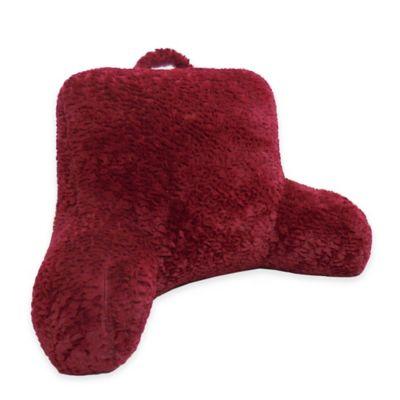 Whisper Cut Plush Backrest Pillow in Red