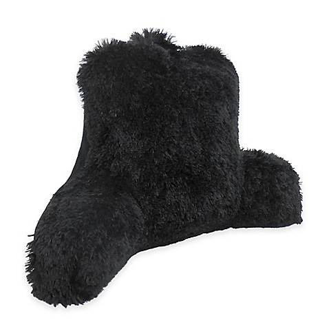 Warmly Shaggy Faux Fur Backrest Pillow Www