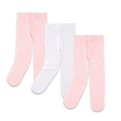 BabyVision® Lovable Friends™ Size 2-4T 3-Pack Tights in Pink/White