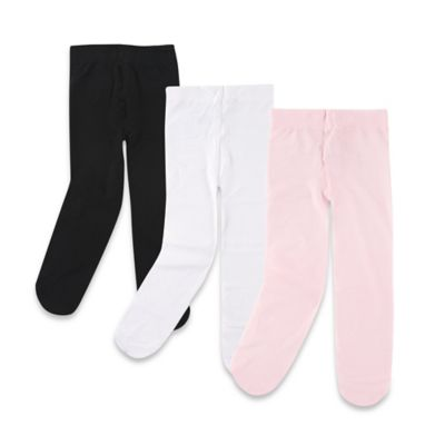 BabyVision® Luvable Friends® Size 9-18M 3-Pack Tights in Black/White/Pink