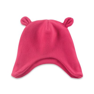 Baby Vision® Luvable Friends Size 0-6M Bear Ears Fleece Cap in Pink