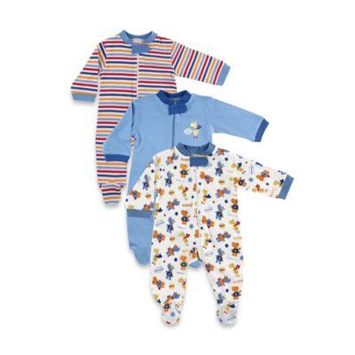 Baby Vision® Luvable Friends® Size 0-3M Superhero Zippered Sleep 'N Play Footies 3-Pack
