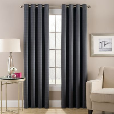 Cheshire 63-Inch Grommet Top Lined Window Curtain Panel in Gold