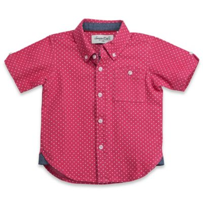 Sovereign Code™ Size 12M Chambray Dot Button-Down Shirt in Red