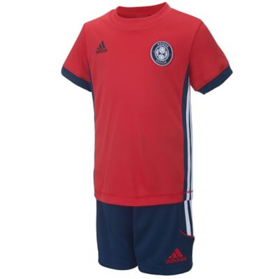 adidas® Size 9M 2-Piece Futsal Shirt and Short Set in Red