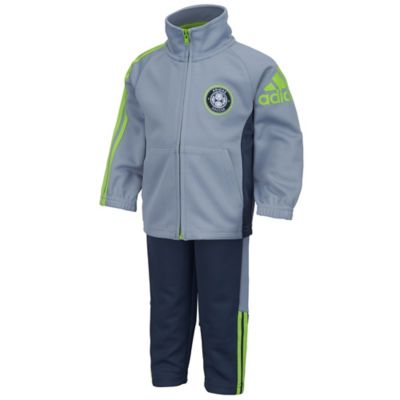 adidas® Size 9M 2-Piece Soccer Team Jacket and Pant Set in Grey