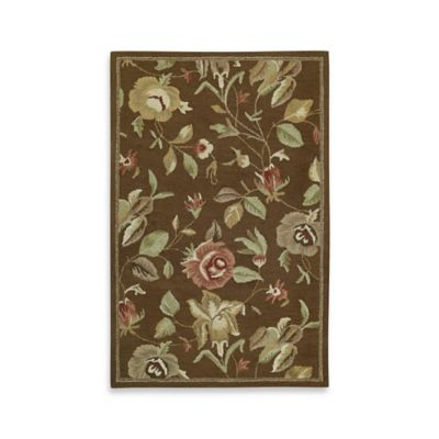 Kaleen Khazana Savhannah 8-Foot x 11-Foot Area Rug in Chocolate