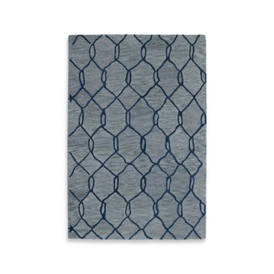 Kaleen Casablanca Trellis 5-Foot x 8-Foot Area Rug in Blue