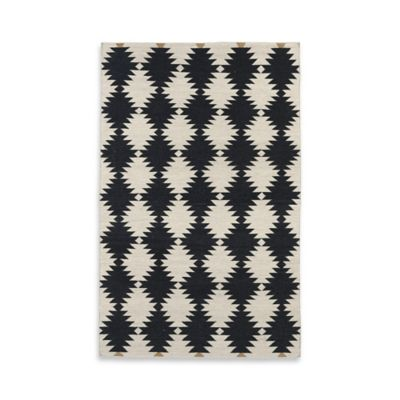 Kaleen Nomad Southwest Diamonds 5-Foot x 8-Foot Area Rug in Black