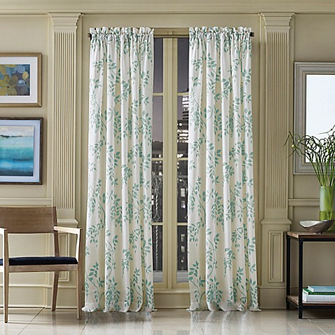 J queen new york winslow botanical print window curtain for Curtains and drapes nyc