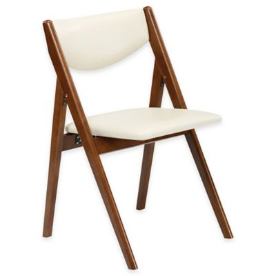 A-Frame Wood Folding Chair in Fruitwood (Set of 2)