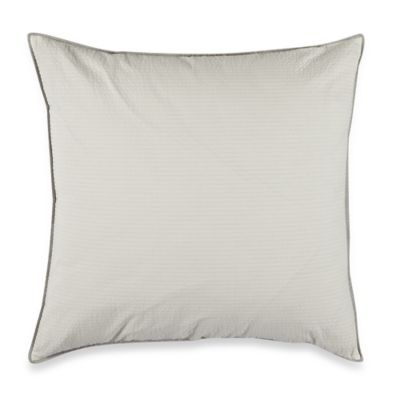 Real Simple® Mikayla European Pillow Sham in White/Grey