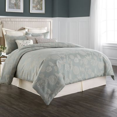 Wamsutta® Chelsea King Comforter Set in Sea Glass/Ivory