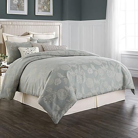 Wamsutta 174 Chelsea Comforter Set In Sea Glass Ivory Www
