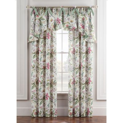 Williamsburg Palace 16-Inch Arch Window Valance in Ivory/Green