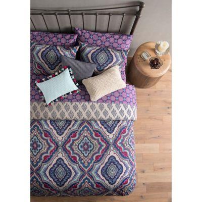 Wander Home Avanna Reversible King Duvet Cover Set in Purple