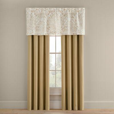 Bridge Street Romano 84-Inch Rod Pocket Window Curtain Panel Pair in Wheat