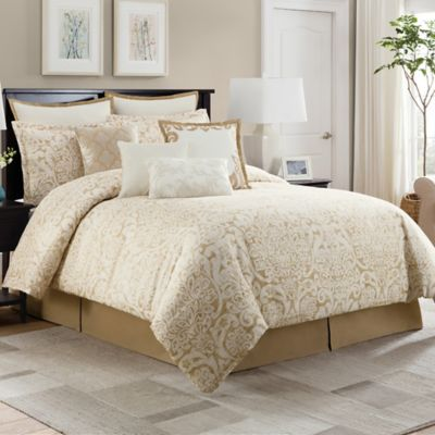 Bridge Street Romano Queen Comforter Set in Wheat