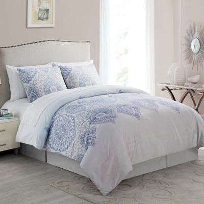 VCNY Berkshire 8-Piece Reversible King Comforter Set in Taupe