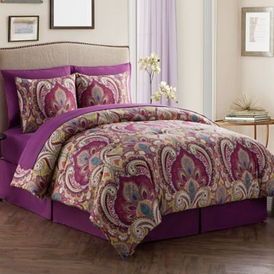 VCNY Alissia Bed in a Bag Reversible Full Comforter Set