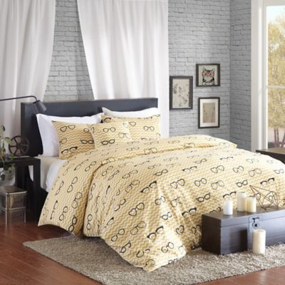 Madison Park Hipstyle Simone Full/Queen Duvet Cover Set in Yellow