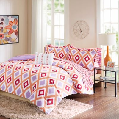Intelligent Design Piper 6-Piece Twin Comforter Set in Coral