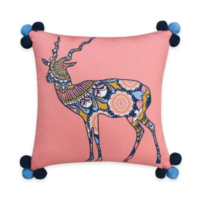 Wander Home Kelia Gazelle Oblong Throw Pillow in Coral