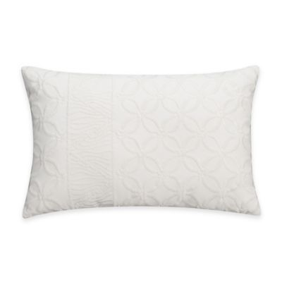 Floral White Throw Pillow