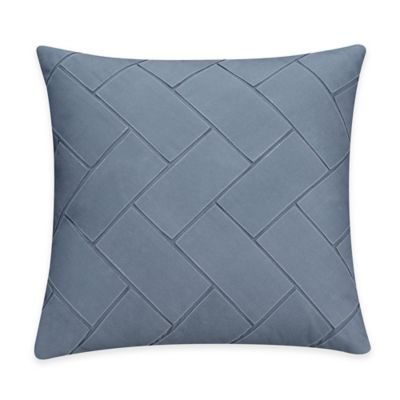Bridge Street Porto Herringbone Throw Pillow in Blue