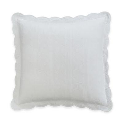 White Scallop Sham