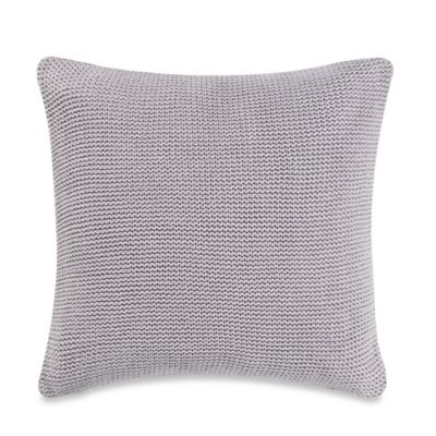 Real Simple® Irving Knit Square Throw Pillow in Grey