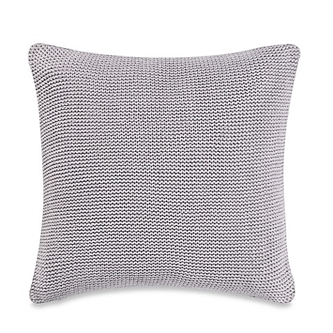 Grey Knit Throw Pillow : Real Simple Irving Knit Square Throw Pillow in Grey - Bed Bath & Beyond