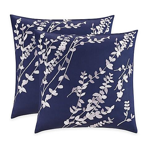 Bridge Street Willow European Pillow Sham In Blue Bed