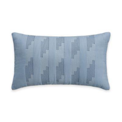 Bridge Street Chatham Textured Oblong Throw Pillow in Blue