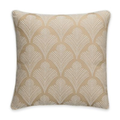Bridge Street Romano Fleur De Lis Square Throw Pillow in Wheat