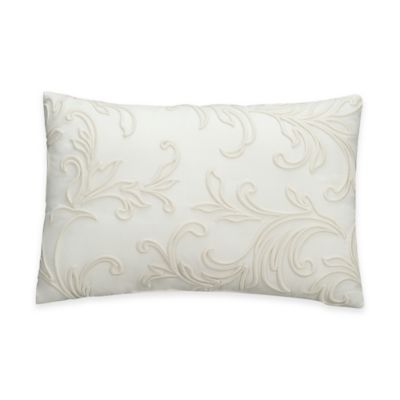 Bridge Street Romano Floral Scroll Oblong Throw Pillow in Ivory