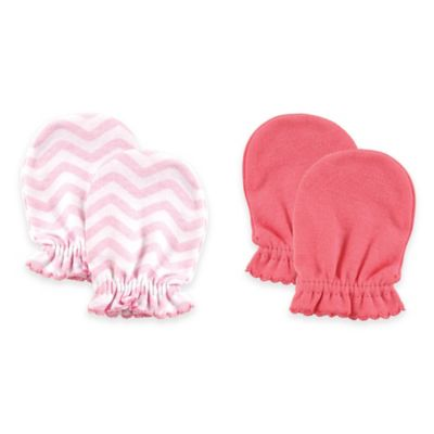 Baby Vision® Luvable Friends 2-Pack Size 0-6M No Scratch Mittens in Pink
