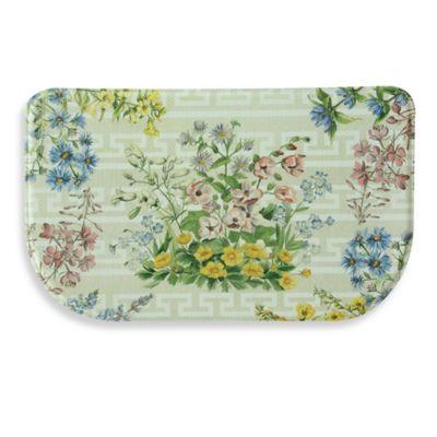 Bacova Summer Bouquet 18-Inch x 30-Inch Memory Foam Kitchen Mat in Yellow