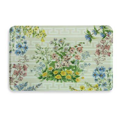 Bacova Summer Bouquet 23-Inch x 36-Inch Memory Foam Kitchen Mat in Yellow