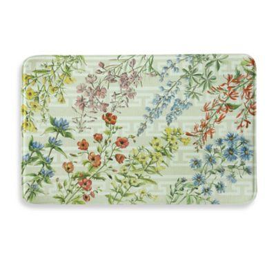 Bacova Summer Flowers 23-Inch x 36-Inch Memory Foam Kitchen Mat